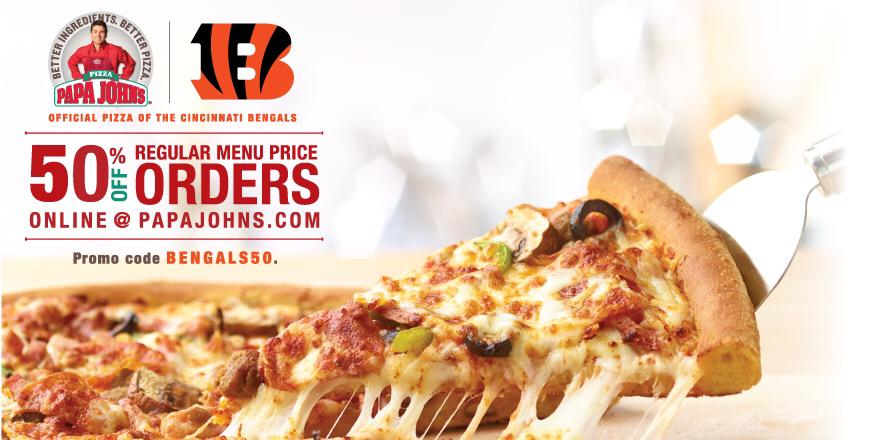 papa johns coupons 50 off bengals
