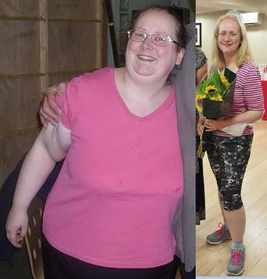 I won Woman of the year 2015 at #slimmingworld and here is my before & after pic http://t.co/zbvKFVs9Di