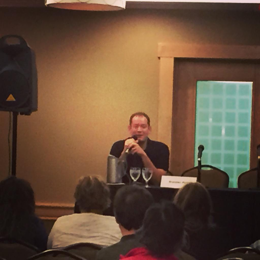 Starting the day with @brandonmull at #wwcyyc15 #awesome #authors http://t.co/3OWYa054gR