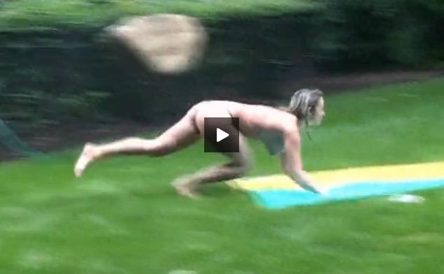 Slip and slide nude