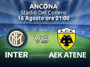 INTER-AEK Atene, info Streaming gratis