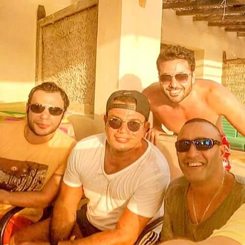 عمرو دياب واحمد السقا وأحمد ومحمد عادل امام الساحل الشمالى 2018