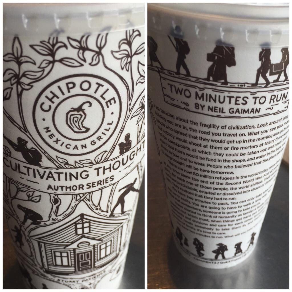 Interesting read by @neilhimself on my @ChipotleTweets drink #CultivatingThought #AuthorSeries #notjustburritobowls http://t.co/i89SUjMU3a