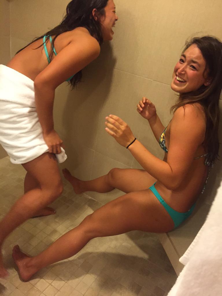 pees bucket Girl in