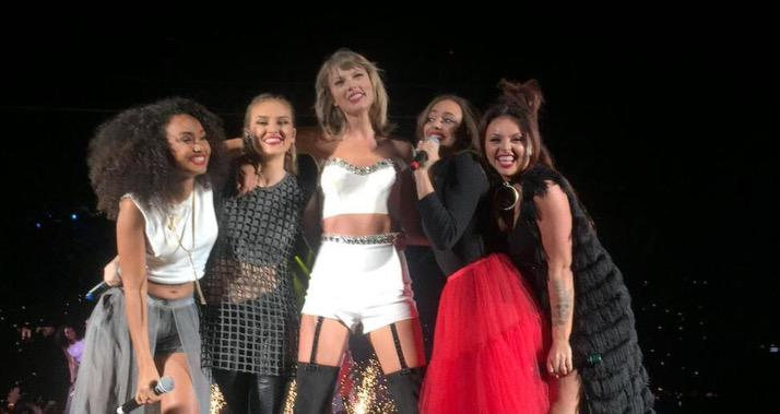 Wow @taylorswift13 brought out @LittleMix and performed #BlackMagic the gals killed it