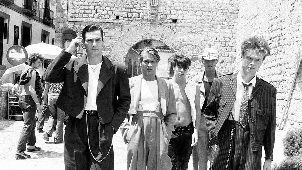 Foto storica degli Spandau Ballet a Ibiza