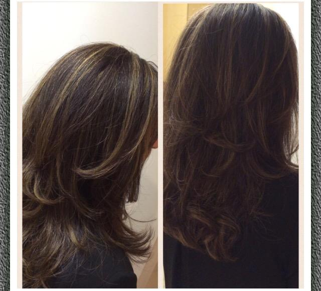 Beautifulhair On Twitter Dark Brown With Blonde Highlights