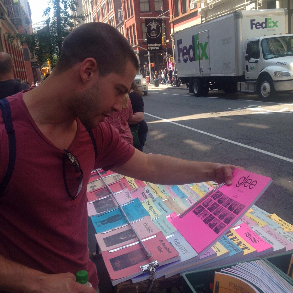 In New York and spotted a guy selling scripts on the sidewalk. http://t.co/4JISCeMdBQ