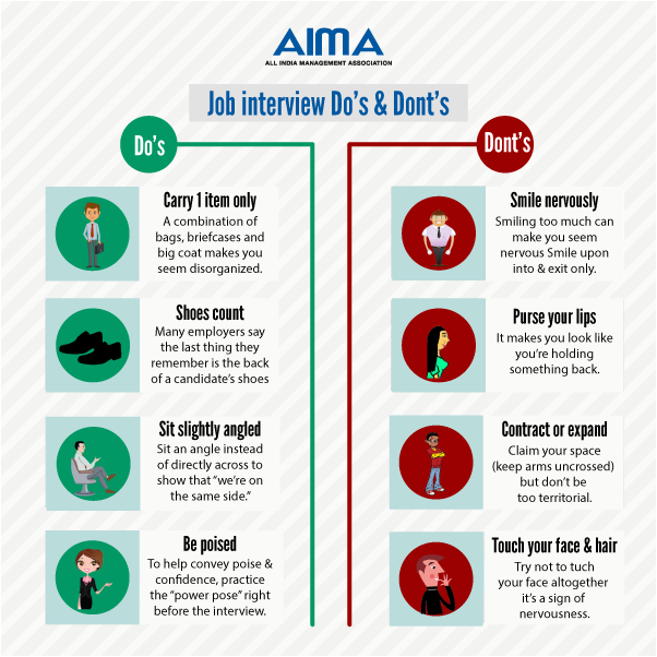 aima on twitter job interview dos and donts job interview checklist httptcorcnw7hjpkb