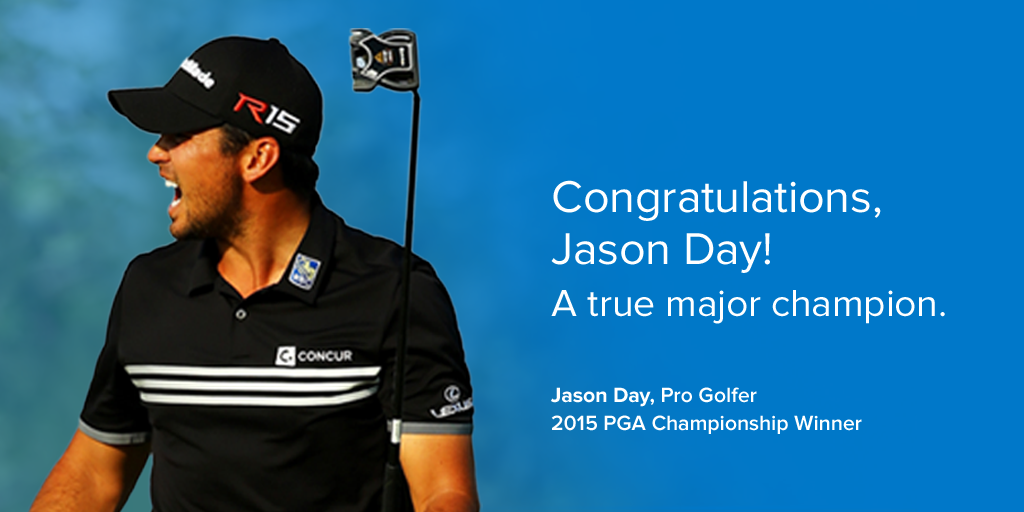 Well-deserved, record breaking major championship win. Congratulations @JDaygolf #MajorDay #PGAChamp http://t.co/sbIk5VD2lQ