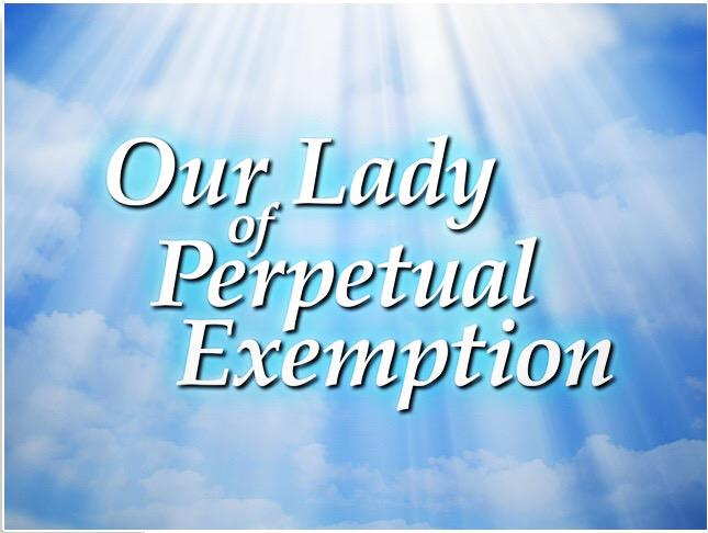 For more information on Our Lady Of Perpetual Exemption, including how to donate, visit http://t.co/n9ueKHUmB6. http://t.co/T8nKpYRCrr