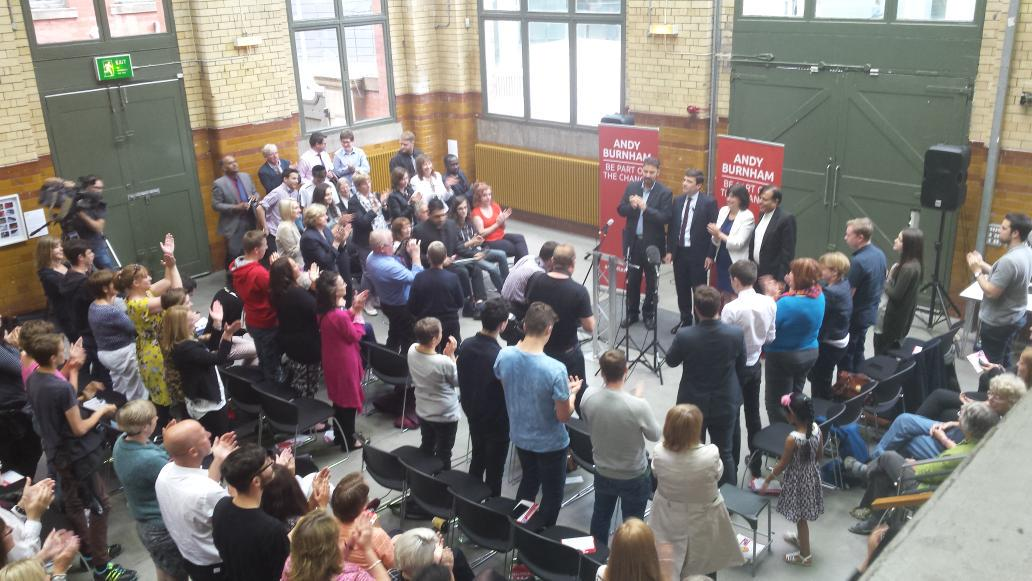 @andyburnhammp got a standing ovation after a passionate and powerful speech! http://t.co/7CmfC9sLnk