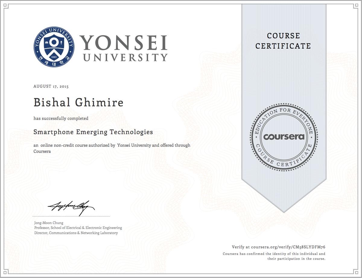Bishal Ghimire On Twitter Smartphone Emerging Technologies Yonsei