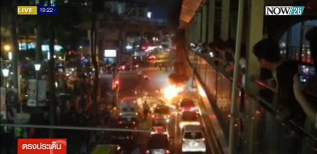 ด่วน! 19.00น. เกิดเหตุระเบิดบริเวณแยกราชประสงค์ เบื้องต้นเสียชีวิต 1 คน บาดเจ็บ 6 คน #ตรงประเด็นข่าวค่ำ  #NOW26 http://t.co/zhBMjWO8Fm