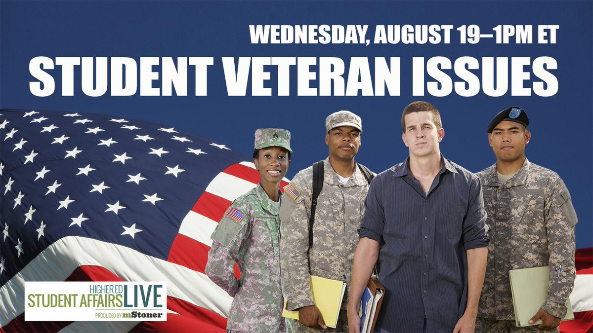 Student Veteran Issues w/ Tanya Ang from @ACEducation–LIVE Wed 1PM ET http://t.co/gmpO8DTWL2 @studentvets #sachat http://t.co/d63sDcoETp