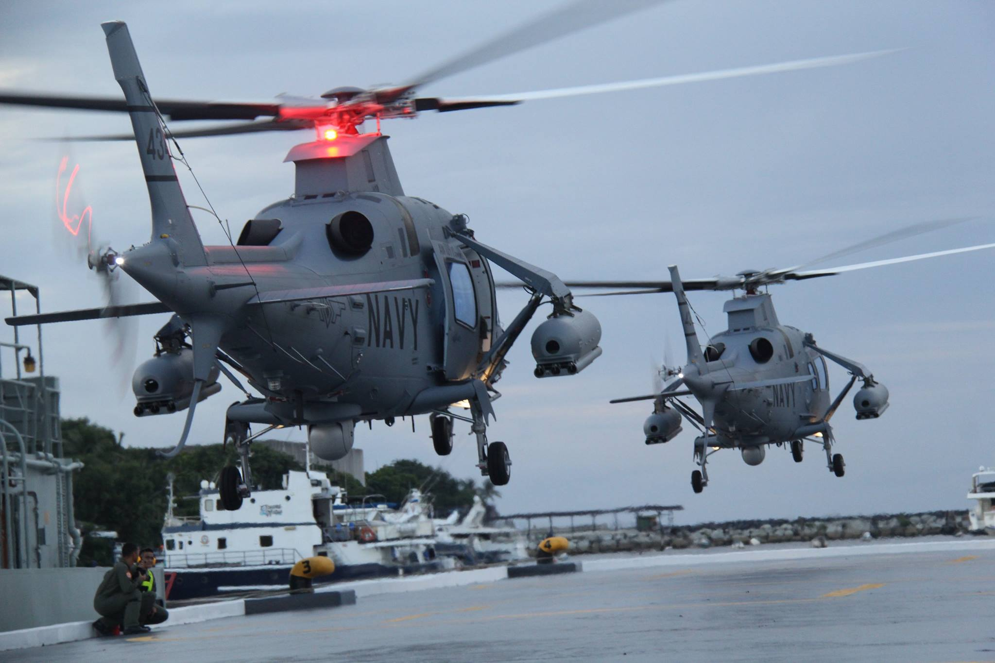 AW 109 attack helicopters