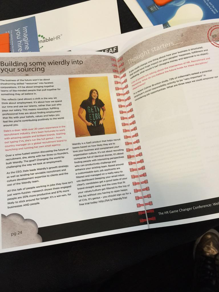 Its @WeirdlyHub in the #hrgcnz booklet. Excited about presenting tomorrow. http://t.co/EgrK4dzahR
