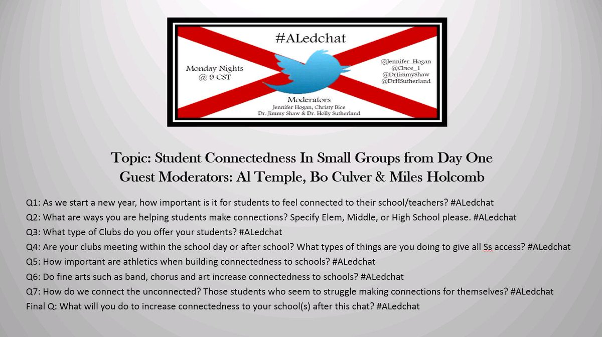 Thumbnail for #ALedchat 8/17/15 Student Connectedness in Small Groups from Day One