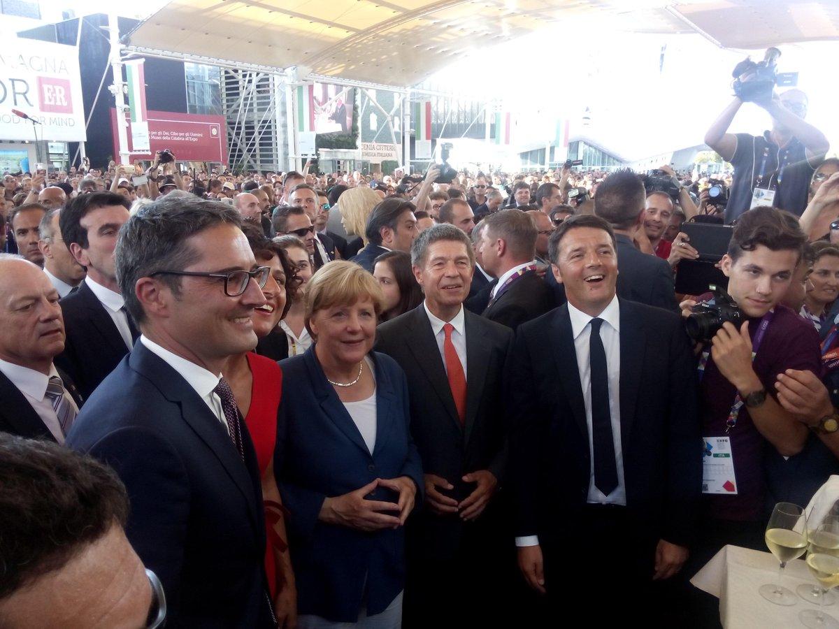 EXPO: Angela Merkel a Milano con il premier Renzi