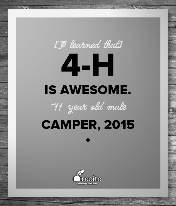 "4 H Quotes Extraordinary Jolynn Miller On Twitter ""great Quotes From Summercamp"