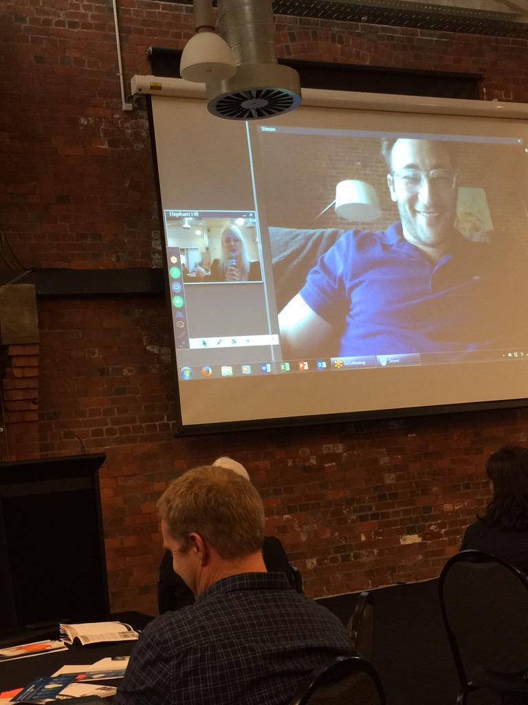 @simonsinek on the big screen #hrgcnz http://t.co/1FGAkS33yh