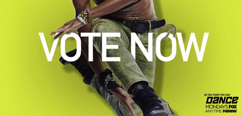 It's that time again. Want your favorites to stay? You know what to do! VOTE! ✔️ VOTE! ✔️ VOTE! ✔️ #SYTYCD http://t.co/66uHxpXyO5