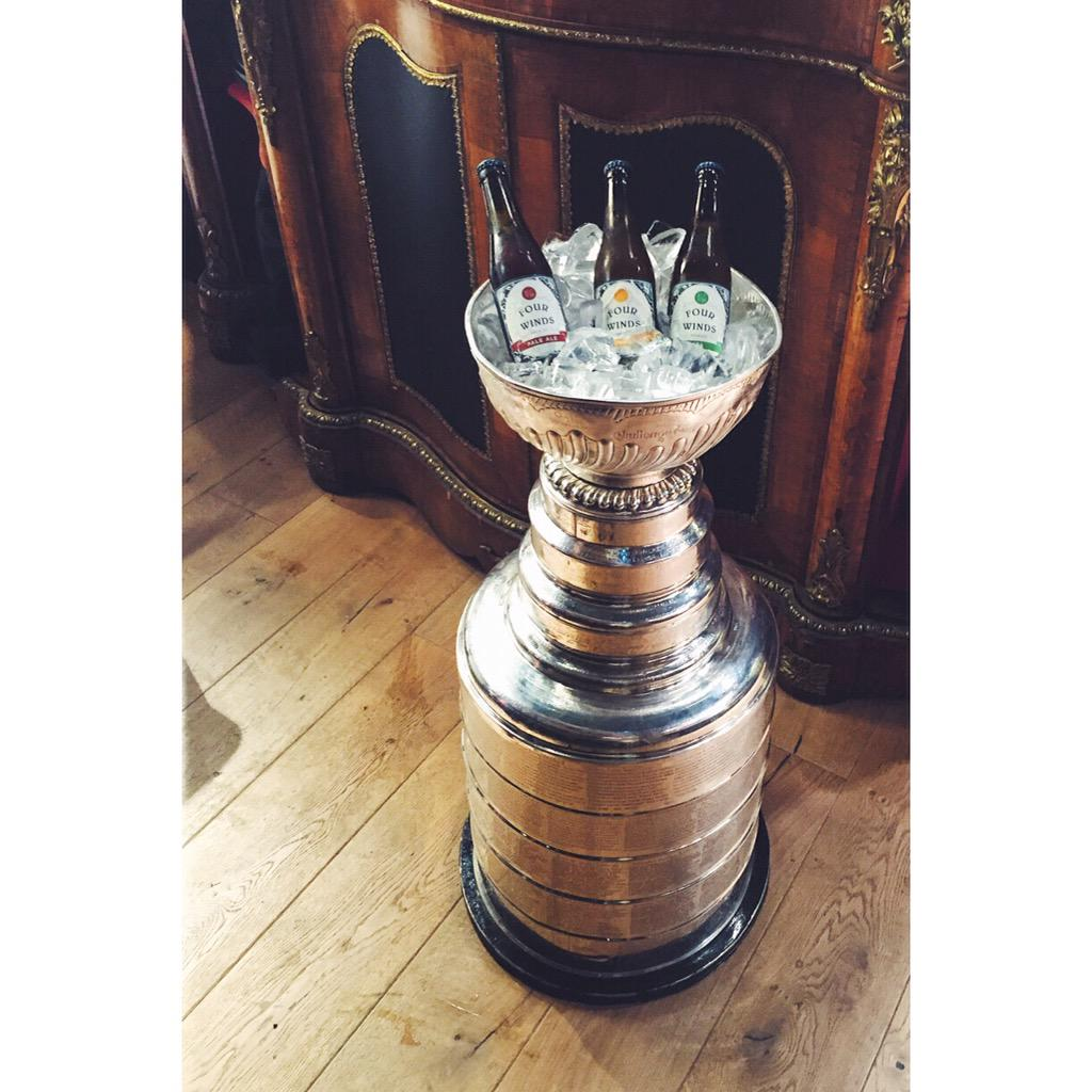 The most coveted cooler.  Shout out to our boy Brent Seabrook @seabrook7 for bringing Stanley home! @BNABrewing http://t.co/GcpO1wN3q5