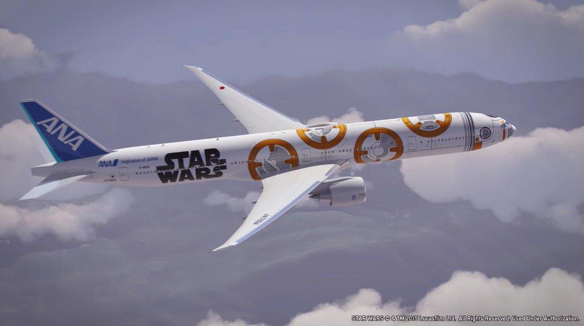 """ANA「STAR WARS™プロジェクト」特別塗装機のデザインに『#スターウォーズ_フォースの覚醒』の新キャラクター""""BB-8""""が登場!ana-sw.com  #スターウォーズ pic.twitter.com/hKNKpYWT19"""