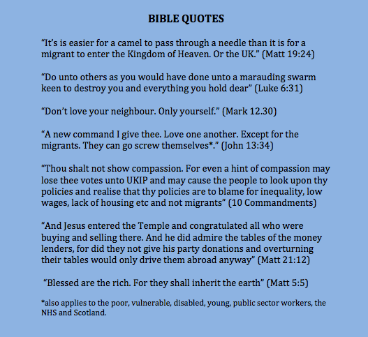 In case you missed it: #ThingsJesusNeverSaid about migrants. http://t.co/zy5iGIaNNW
