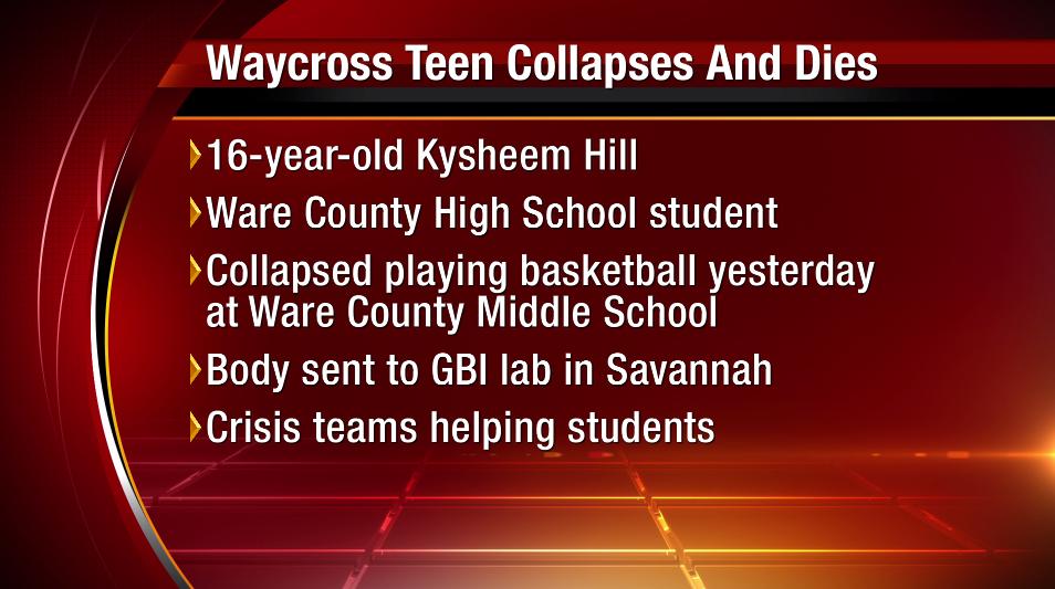 Breaking A 16 Year Old Waycross High School Student Died After