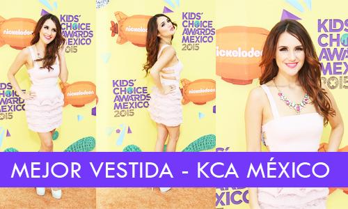 Según nuestros seguidores Dulce Maria @DulceMaria es La Mejor Vestida de Kids Choice Awards México 2015. http://t.co/QXdjR1gLoX