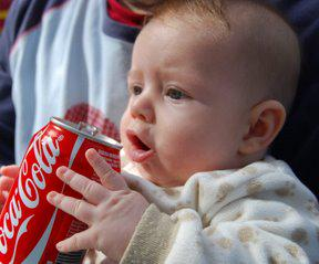 Even babies can drink @CocaCola as long as they crawl 2 miles every day! #cokescience http://t.co/8DHDng7QOa
