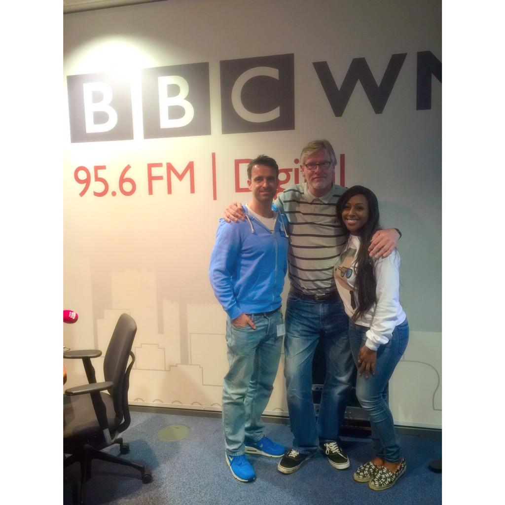 Great interview today with my boo @StuartyReid it's airs in twenty minutes on @bbcwm ❤️ http://t.co/3qe8nwt1tR