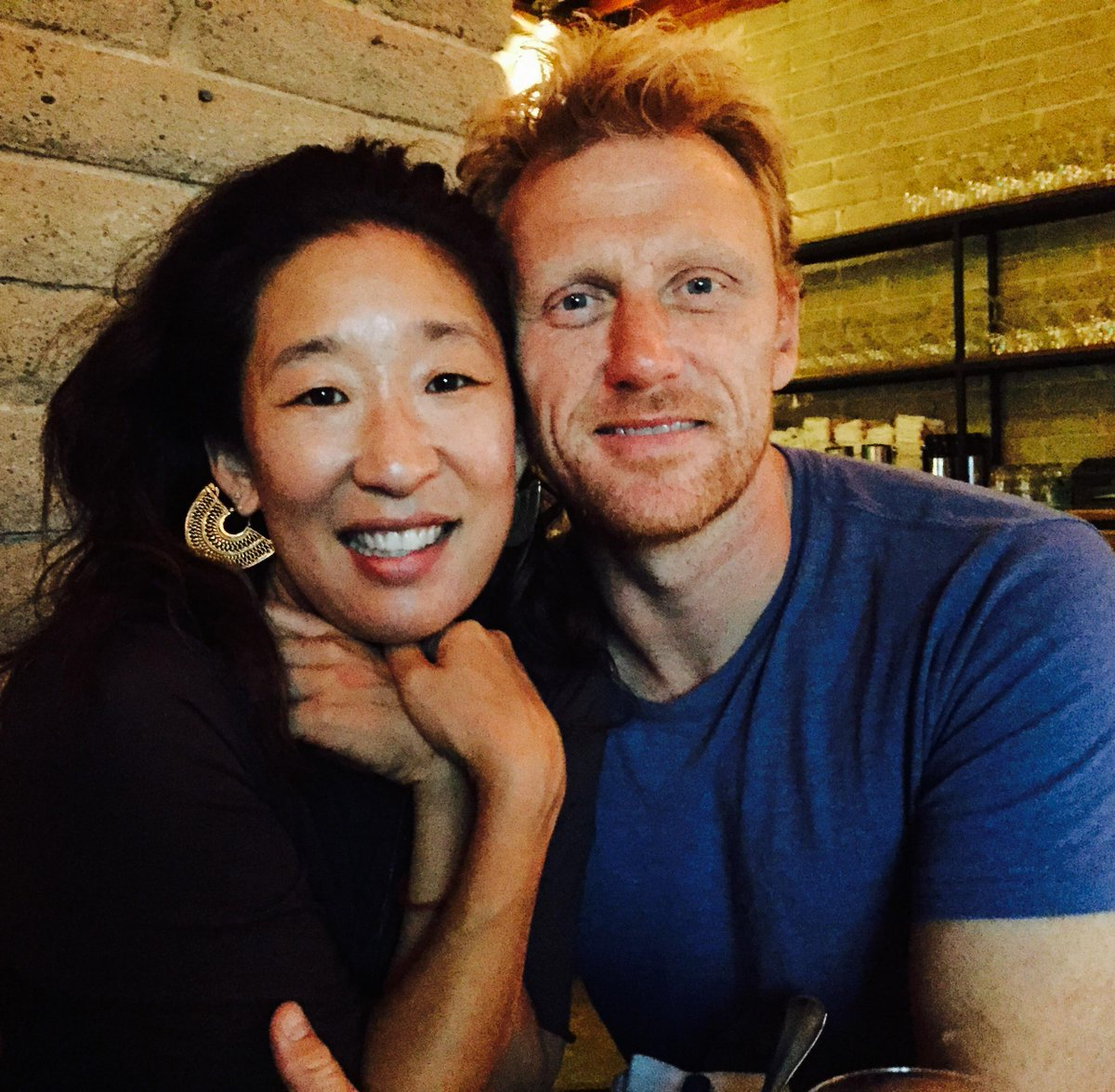 me & @TheRealKMcKidd at his belated bday dinner. May u catch Brave New Waves all this year dearest friend.