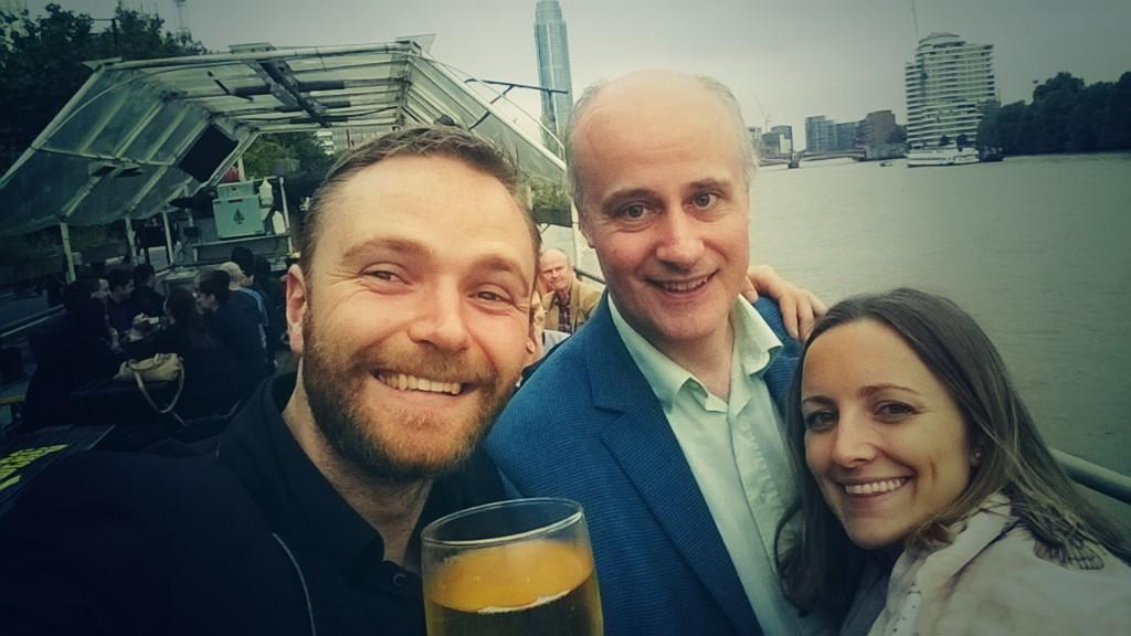 Just arrived at the #smlondon summer party, pint on a boat! Drinking the weather better http://t.co/30KU2SvA6z