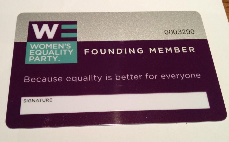 Today I literally became a card-carrying feminist. Who knew? @WEP_UK http://t.co/IsaYGLbGDo