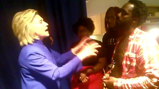 Watch Hillary Clinton roll her eyes at #BlackLivesMatter thugs