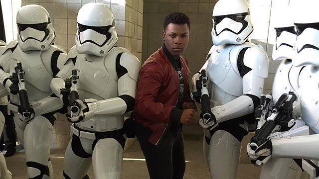 .@JohnBoyega and the First Order Stormtroopers! #StarWars #TheForceAwakens http://t.co/u692fqRF1u