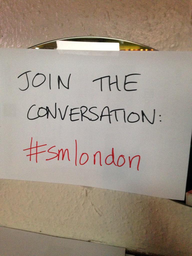 Hello #smlondon http://t.co/pA9WOHVRBo