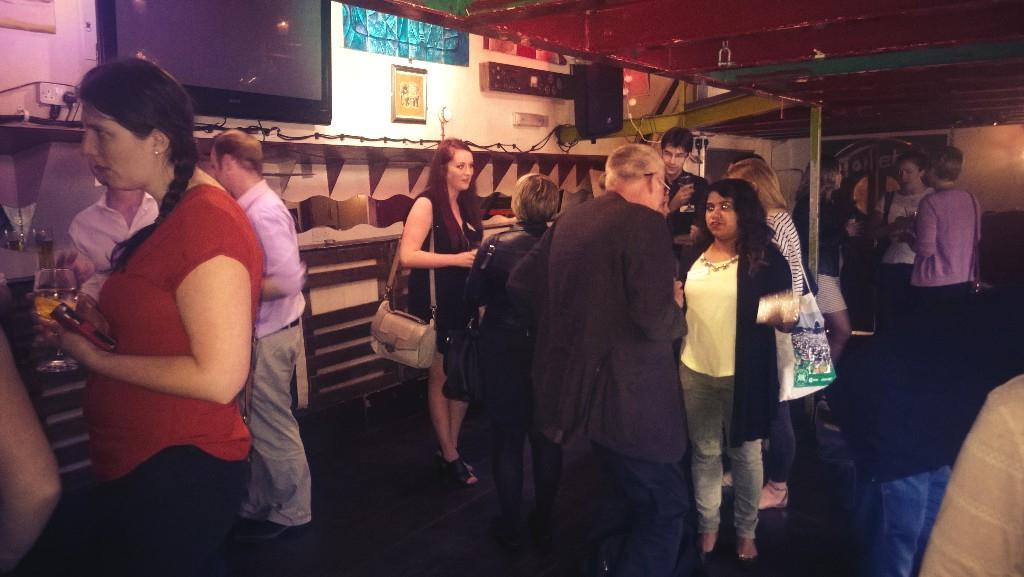 Hotting up in the galley! Numbers growing at #smlondon event, need to brush up on my pirate-speak http://t.co/Y1SEkBY8oe