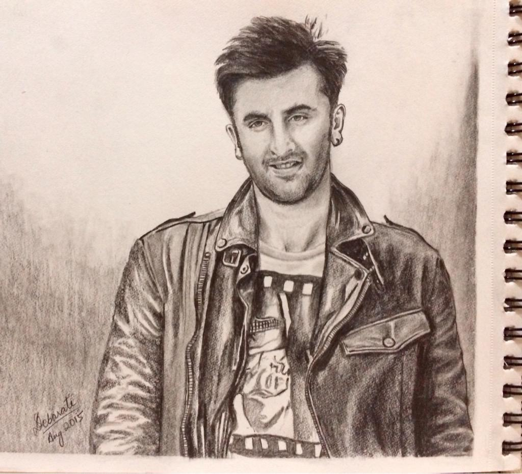 Debarati s sen on twitter my pencil sketch of ranbirkapoor one of the best actors in bollywood today pencil sketching art love
