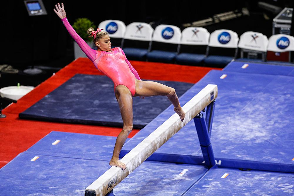 Ashton Locklear Ashton Locklear On Balance Beam In P Amp G