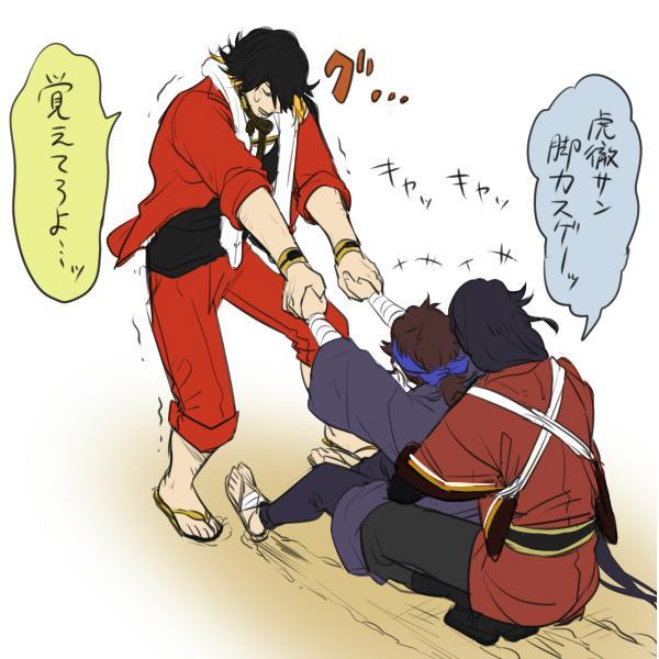 長曽祢さん相手だと急に子供になる陸奥守と便乗する和泉守に萌えたい
