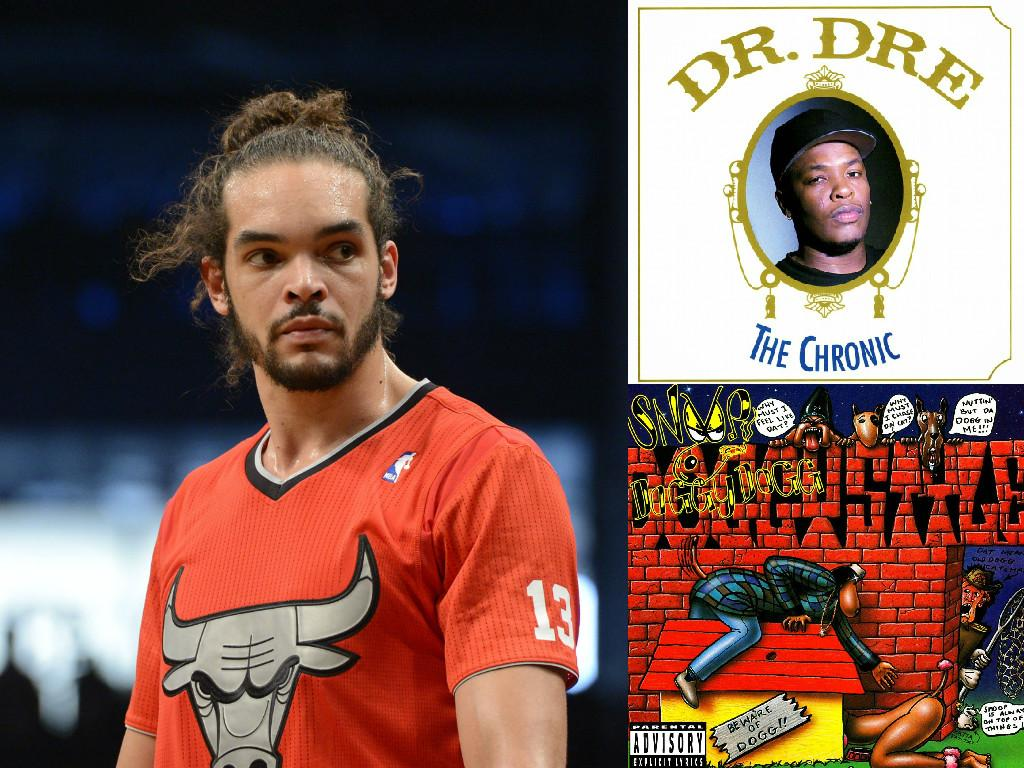 Joakim noah's mom bought him dr  dre and snoop dogg albums in the