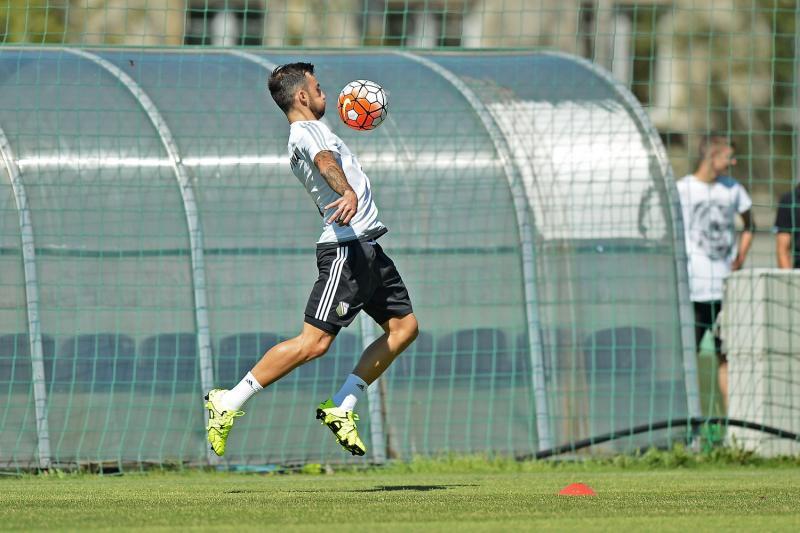 Ivan Trichkovski at a training; photo: Legia