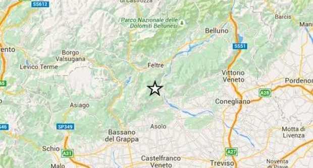 Scossa di Terremoto M3,7 in provincia di Belluno (Veneto), persone in strada dallo spavento