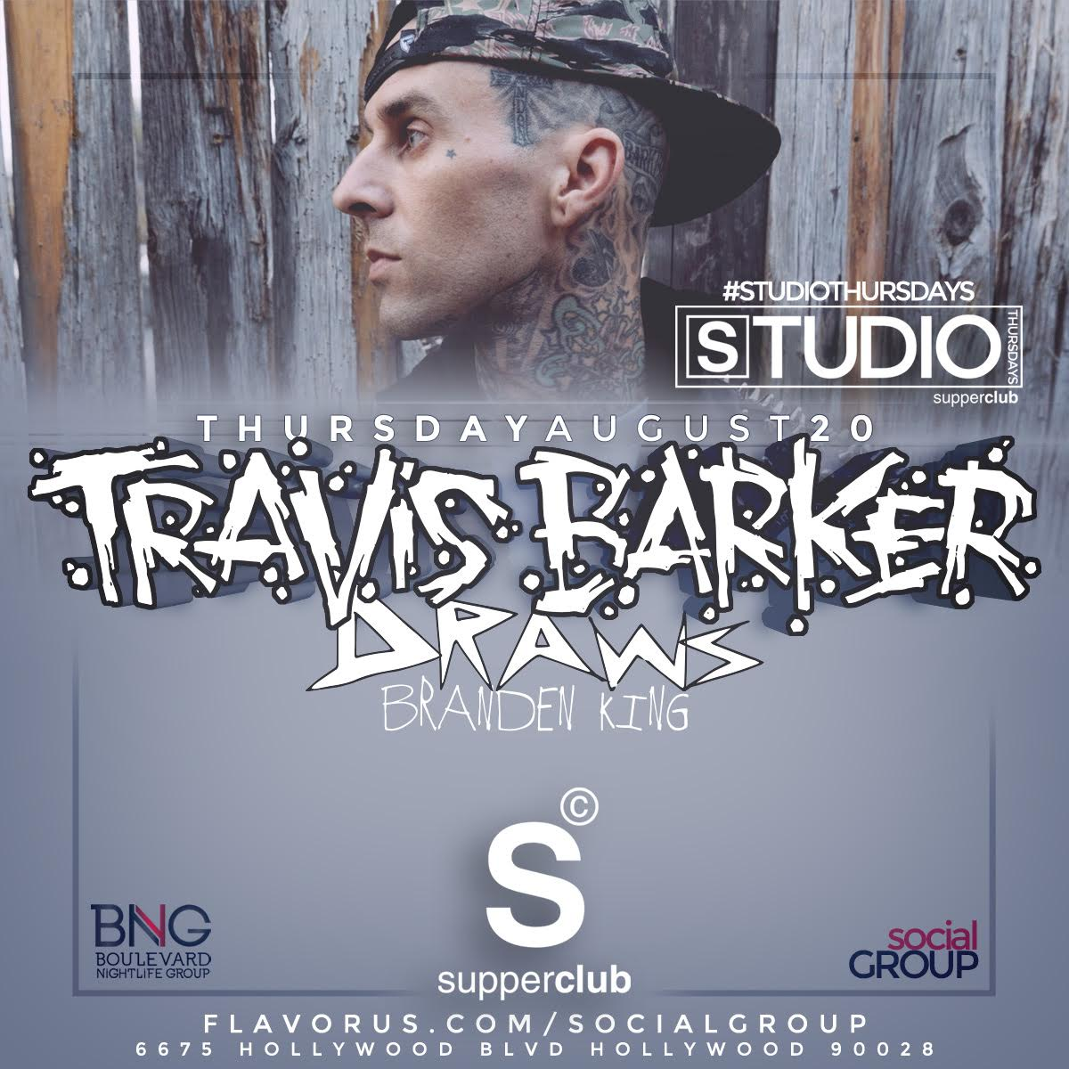 #StudioThursdays w/ @TravisBarker! #RadTimes #givethedrummersome  Tickets: http://t.co/kbF2oo3c0c http://t.co/zsauric5BA