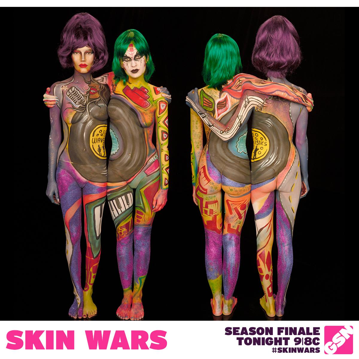 skin wars on twitter skinwars 100 000 finale is here it 39 s a multi body paint off tune in. Black Bedroom Furniture Sets. Home Design Ideas