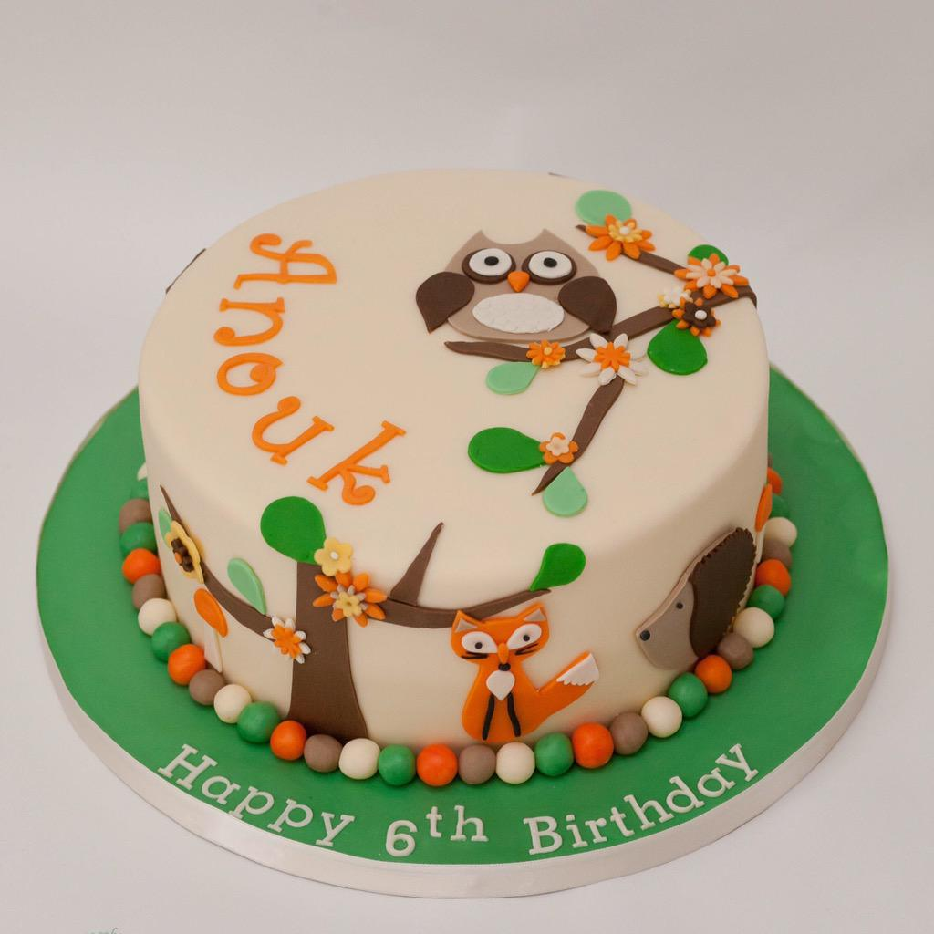 The Little Cake Box on Twitter A woodland animals themed cake for