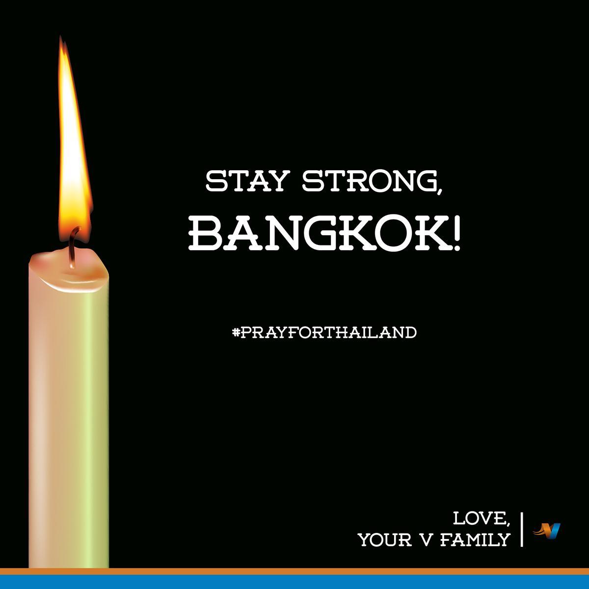 To our dear V Family in Thailand! #StrongerTogether #PrayForBangkok #PrayForThailand http://t.co/OsXzB1inyC
